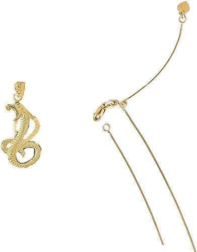 14k Yellow Gold Cobra Pendant