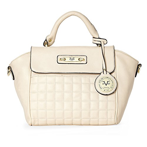 c7d9deca034b V1969 Italia Womens Designer Minerva Satchel Handbag by VERSACE 19.69  ABBIGLIAMENTO SPORTIVO SRL (Beige) - (More Colors Available) - Buy Online  in UAE.