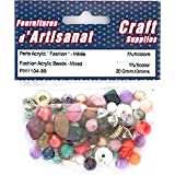 FASHION ACRYLIC BEADS MIXED MULTI COLOURED 20 GRAMS ARTS & CRAFTS