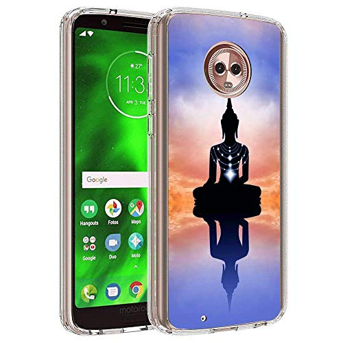 Buddha Moto G6 Plus Clear Case,Ultra-Thin Transparent Soft Protection Cover,Personal Customization Hybrid Drop Flexible Shockproof Case Creative Zen Clear Case