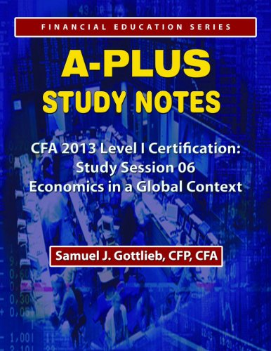 APSN CFA 2013 Level 1 Study Session Economics in a Global Context