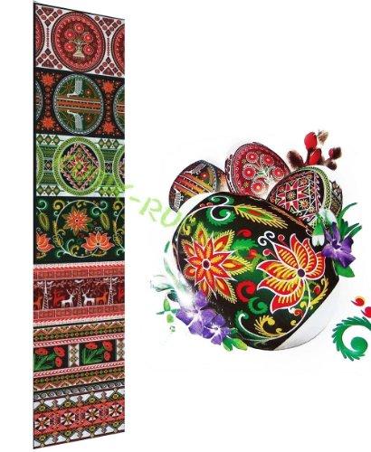 "Heat Shrink Wrap Sleeve Decoration Easter 7 Egg Pysanka ""National Ukrainian"""