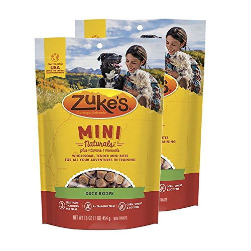 Zuke s Mini Naturals Dog Treats Duck Recipe 16 oz 2 Pack