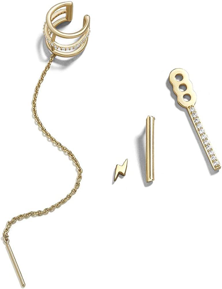 Ear Chain Threader Earrings 925 Sterling Silver Wire Ear Threaders Wire Earrings Ear Threaders Open Hoops Threader Geometric Earrings