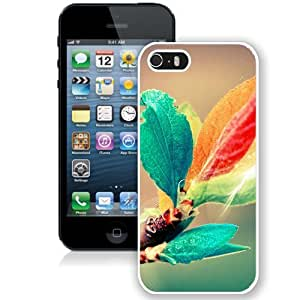 Colorful Leaves (2) Hard Plastic iPhone 5 5S Protective Phone Case