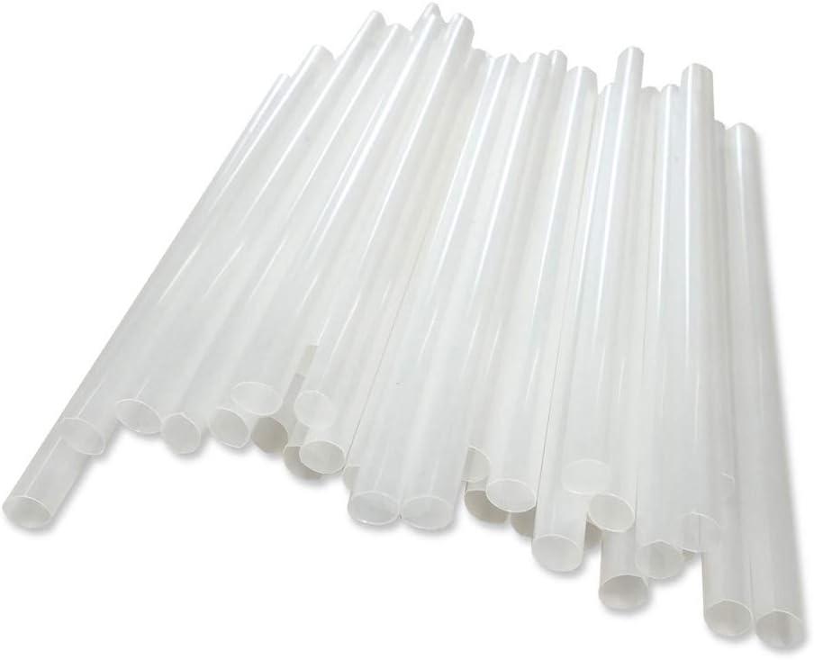 BIOZOYG pajitas ecologica Jumbo-8mm I 150 Piezas para Bebida Larga Smoothie cóctel 25 cm Color Blanco I Pajita de Beber plástica sostenible Hecha del plástico orgánico del PLA Biodegradable