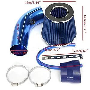 76 mm Rabusion Kit de Filtro de Entrada de Aire fr/ío Universal para Coche