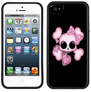 meilz aiaiCute Skull Pink Hearts Handmade iPhone 5C Black Casemeilz aiai