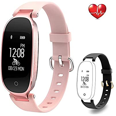 Flenco Fitness Tracker Heart Rate Monitor Activity Tracker Waterproof Smart Bracelet Health Sport Watch Pedometer Wristband Calorie Step Counter Sleep Monitor For Women Ladies Girls Kids Android IOS Estimated Price £26.99 -