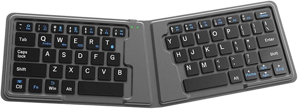 HRRH Teclado Bluetooth Plegable, Mini Teclado Plegable de ...