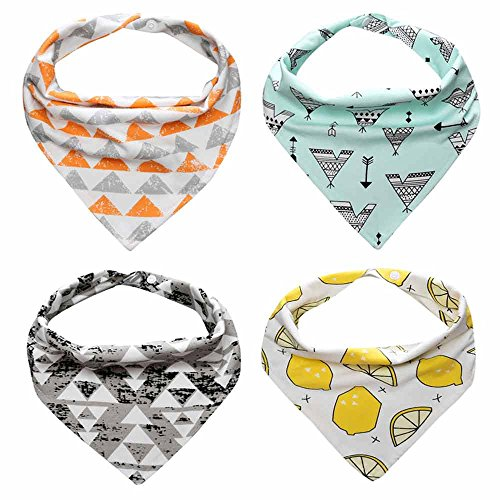 Baby Bandana Drool Cute Cartoon Bibs With Snaps For Boys & Girls Cartoon Style Snap