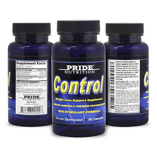 Control - Natural Appetite Suppressant - Best Non Stimulant Fat Burner Supplement for Weight Loss - 60 Pills