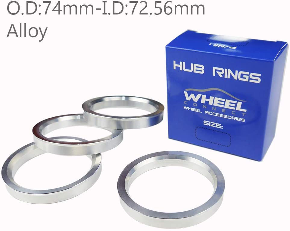 Wheel Hub Centric Rings Spacer OD = 70.1mm ID = 57.1mm Aluminium Alloy-4 rings