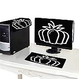 Miki Da Computer dust Cover 19''MonitorSet Pumpkin Vector Icon Outline Illustration Isolated on