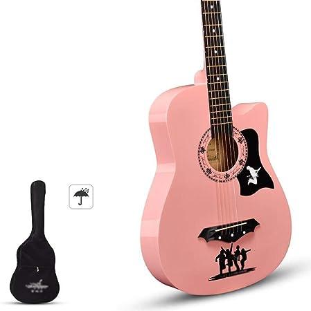 Guitarra Acústica Guitarra Clasica Hecho A Mano Kit De Principiante con Estuche A Prueba De Agua, Correa Resonancia De Tono Lustroso Guitarra De Madera, 8 Colores Gdming: Amazon.es: Hogar