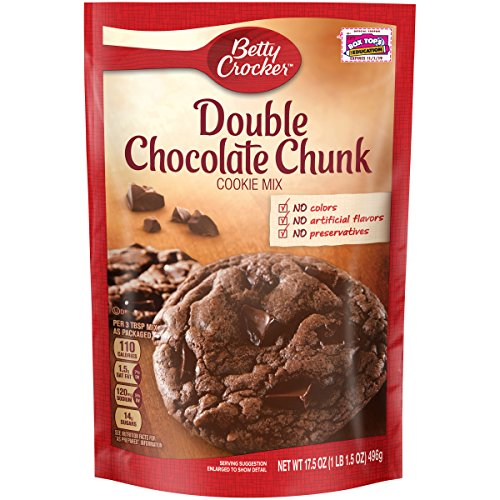 (Betty Crocker Cookie Mix Double Chocolate Chunk 17.5 oz)