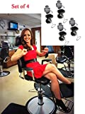 Set of 4 Hydraulic Barber Chair Professional Portable Lift Man Barber Chair FCH All Purpose Classic Styling Salon Spa Beauty Shampoo Hair Work Station Chair Swivel Grooming Equipment