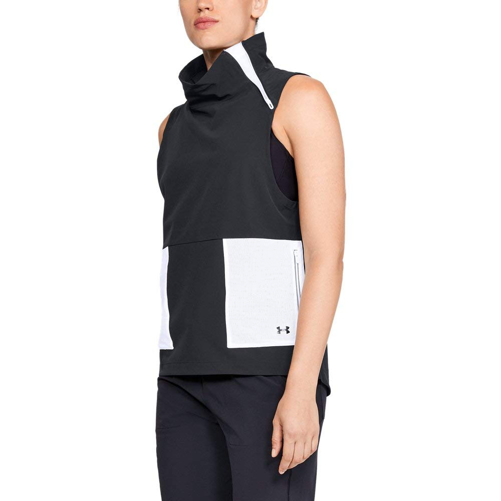 Under Armour Women's Storm Woven Vest, Black (001)/Tonal, Small