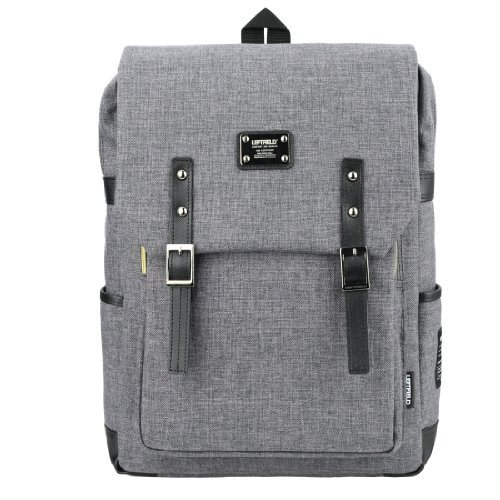 Backpack 15 Laptop Luggage Casual Bags - Basic Closures Grey Magnetic Snap