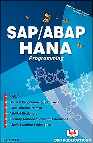 SAP /ABAP HANA PROGRAMMING - Kindle edition by S Malakar