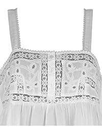 Cotton Lane White Cotton Victorian Vintage Nightdress. Sizes US 4-34