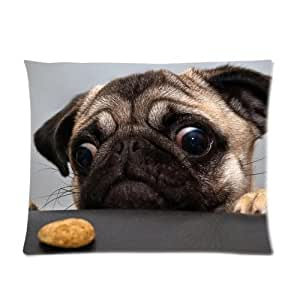 Pug Dog Custom Pillowcase Standard Size 20x26 CP-602