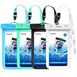 Waterproof Cell Phone Bag, MoKo Universal Waterproof Cellphone Case Pouch Dry Bag with Lanyard Compatible with iPhone X/Xs/Xr/Xs Max, 8/7/6S Plus, Samsung Galaxy S9/S8 Plus, S7 Edge, Note 9/8, 4 Pack