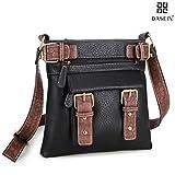 Dasein Top Belted Crossbody Bags for Women Soft Leather Messenger Bag School Bag Travel Bag