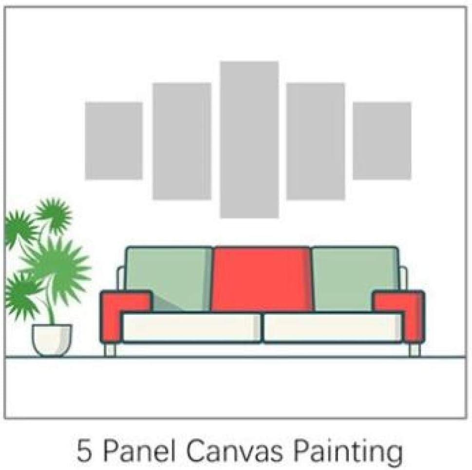 Taille 1 HNBDH Impressions sur Toile 5 Pi/èces Animation My Hero Academia Affiche Mur Art Photos Salon Salon HD Imprimer Peinture sans Cadre