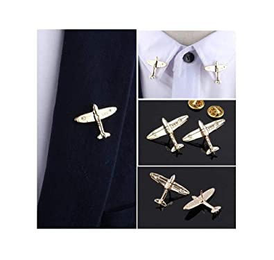 dbdb87d9f6 Tiande Plane Brooch Small Aircraft Vintage Cute Animal Brooch pins Male  Shirt Brooch Novelty Suit and Vest pin (2 pcs)