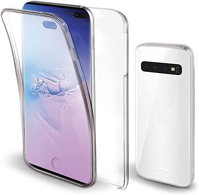 Moozy Funda 360 Grados para Samsung S10 Plus Transparente: Amazon ...