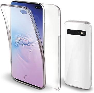 Moozy Funda 360 Grados para Samsung S10 Plus Transparente: Amazon ...