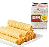 Chinese Snack Food: Nutritious Low-Sugar Crispy Egg Yolk Rolls 300g/10.6oz (Coconut Taste)