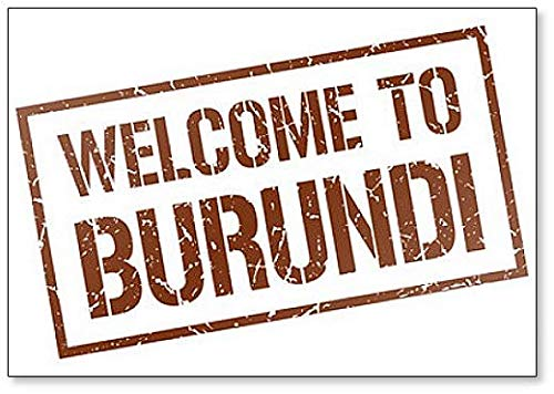 Welcome to Burundi Stamp Illustration Classic Fridge Magnet