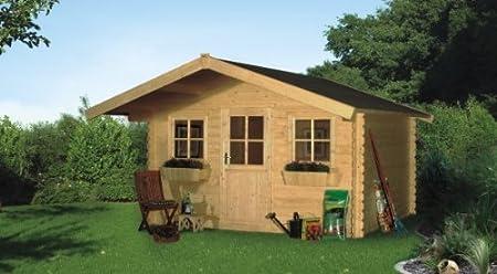 Cabaña Madera listones Casa Lagos tamaño 2, 340 x 340 cm: Amazon ...