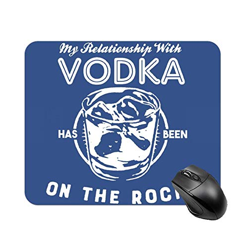 FGN Mouse Pad My Relationship with Vodka Has Been On The Rocks Mouse Mat, Premium Mousepad for Laptop, Computer, Pc, Keyboard]()