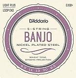 D\'Addario EJ60+ Nickel 5-String Banjo Strings, Light Plus, 9.5-20