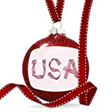 Christmas Decoration United States of America Pink Ribbon Ornament