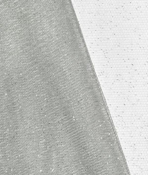 Silver Glitter Tulle Fabric - by the Yard by Online Fabric Store