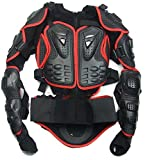 Motorcycle Motorcross Racing ATV UTV Outdoor Sport Full Body Spine Chest Protective Clothing Jacket Gear Armor Off Road Protector Red Size M For HONDA TRX500FPM 2008 2009 2010 2011 2012 2013 2014