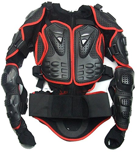 Motorcycle Accessories Racing Red Full Body Spine Chest Protective Clothing Motorcross Jacket Gear Armor Off Road Protector Size XL For 2008 2009 2010 Suzuki HAYABUSA/GSXR1300 (Suzuki Hayabusa Jacket)