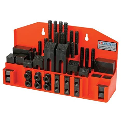 Clamping Bolt M12-slot T Nut Hold Down Tool Set For Metal Milling Machine 58Pcs