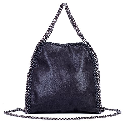 Shoulder Strap Foldover Women Casual black Large Tote Nylon Women Hobo Handbags Clutch with Chain Bag for Crossbody Large Bag tr4w1xzr