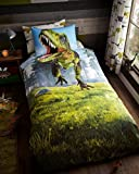 Gaveno Cavailia Dino Kids Children Design Luxurious Duvet Cover Sets Reversible Bedding Sets with Pillowcases/Fitted Bed Sheets GC (Single Duvet Set)