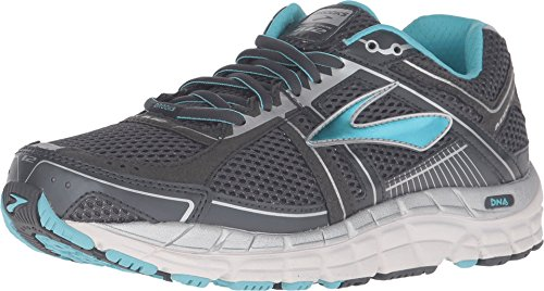 Brooks Women's Addiction 12 Anthracite/Bluefish/Silver Sneaker 9 B (M) (Brooks Addictions)