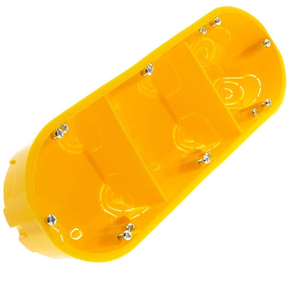 BeMatik - Caja de empotrar Rectangular 215x74mm para Paredes Huecas BeMatik.com