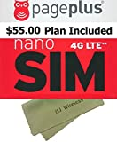 Page Plus Nano SIM Card with $55 Monthly Plan. Unlimited Talk / Text / Data PagePlus Nano Cut for Verizon iPhones 4G LTE SIM Prefunded Preloaded Activation Kit($55 Monthly Plan)