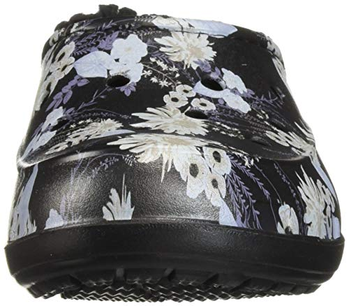 Graphic Clog Women's Black floral Crocs Freesail Lined EwUx0CqC
