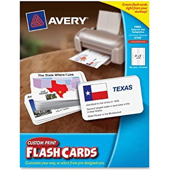 amazon com avery custom print flash cards 3 x 5 inches for inkjet