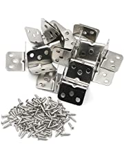 Pxyelec Stainless Steel Right Angle Code Corner Brace Joint Bracket Angle, 6 Hole, 36mm x 28mm x 1.0mm (Thick), Pack of 20